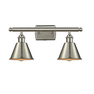 Smithfield Brushed Satin Nickel Two-Light LED Bath Vanity