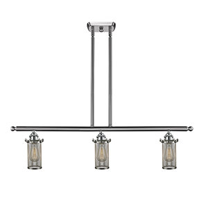 Bleecker Brushed Satin Nickel Three-Light LED Island Pendant