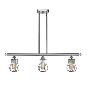 Barrington Brushed Satin Nickel Three-Light LED Island Pendant