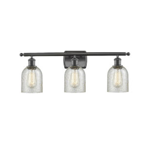Caledonia Oil Rubbed Bronze Three-Light Bath Vanity with Mica Glass
