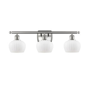 Fenton Brushed Satin Nickel Three-Light Bath Vanity