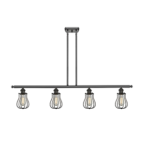 Barrington Oiled Rubbed Bronze Four-Light LED Island Pendant