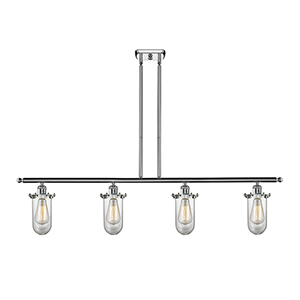 Kingsbury Polished Chrome Four-Light LED Island Pendant with Clear Globe Glass