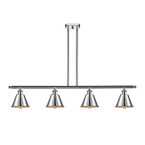 Smithfield Polished Chrome Four-Light LED Island Pendant