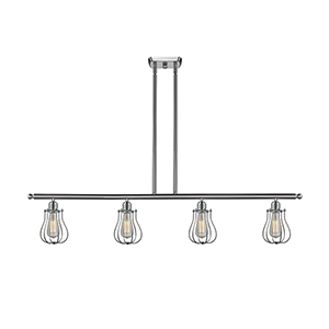 Barrington Brushed Satin Nickel Four-Light LED Island Pendant
