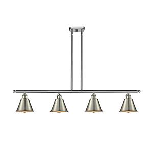 Smithfield Brushed Satin Nickel Four-Light LED Island Pendant
