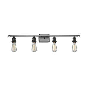 Bare Bulb Oiled Rubbed Bronze 36-Inch Four-Light LED Bath Vanity