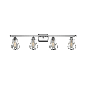 Barrington Polished Chrome Four-Light LED Bath Vanity