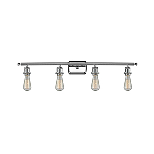 Bare Bulb Polished Chrome 36-Inch Four-Light LED Bath Vanity