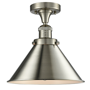 Briarcliff Brushed Satin Nickel 11-Inch LED Semi Flush Mount