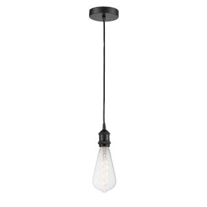 Ballston Matte Black Four-Inch LED Mini Pendant