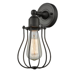 Austere Oil Rubbed Bronze Six-Inch One-Light Wall Sconce