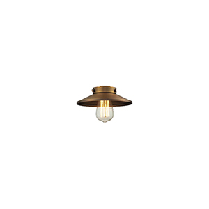 Railroad Brushed Brass Shade