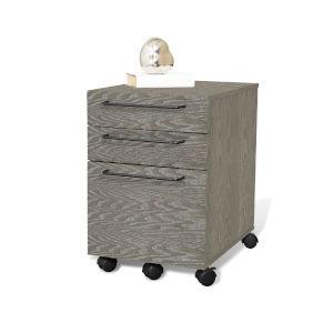 Gray MDF Two-Drawer Mobile Pedestal File Cabinet