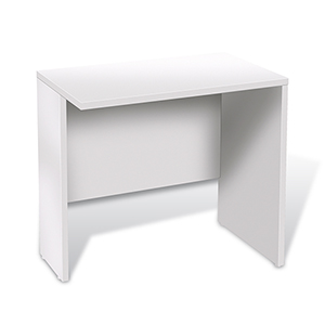 100 Collection White 32-Inch Narrow Return Desk