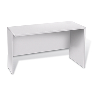 100 Collection White 47-Inch Narrow Return Desk
