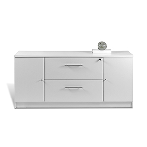 100 Collection White Storage Credenza
