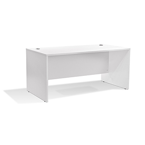 100 Collection White 63-Inch Managers Desk
