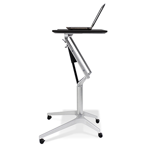 Workpad Height Adjustable Standing Laptop Desk with Black Top