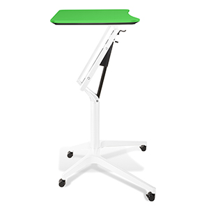 Workpad Height Adjustable Standing Laptop Desk with Green Top