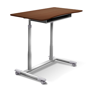Stand Up Desk Height Adjustable and Mobile with Cherry Top