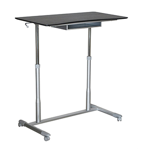 Stand Up Desk Height Adjustable and Mobile with Espresso Top