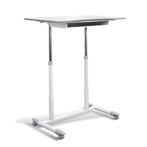 Stand Up Desk Height Adjustable and Mobile with White Top