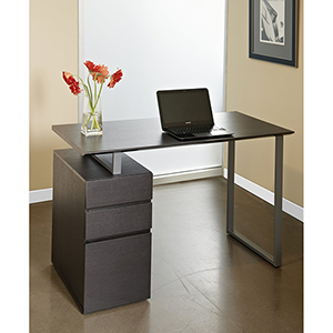 Espresso Tribeca Writing Desk with Drawers