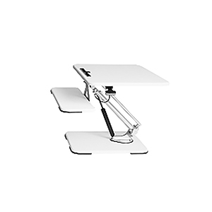 White Height Adjustable Desk Riser