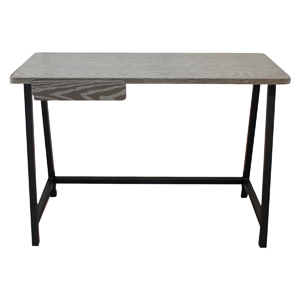 Gray Desk with Drawer
