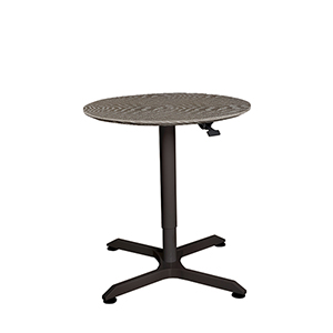 Gray Height Adjustable Standing Meeting Table with 31-Inch Top