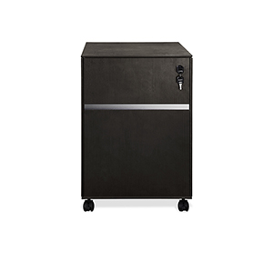300 Collection Espresso Two Drawer Mobile File Cabinet