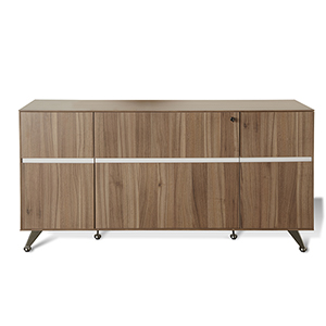 300 Collection Walnut Storage Credenza