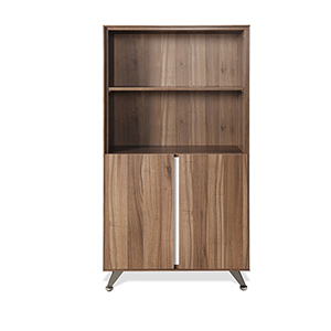 300 Collection Walnut Bookcase with Doors