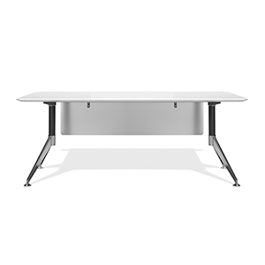 400 Collection White Executive Desk 71-Inch