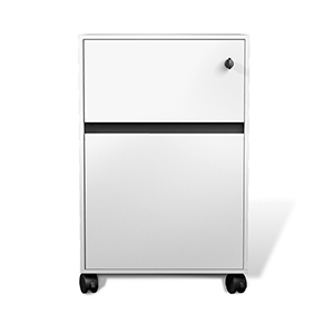 400 Collection White Mobile File Cabinet