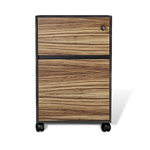 400 Collection Zebrano Mobile File Cabinet