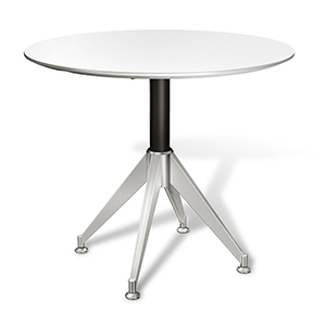 400 Collection White Round Meeting Table