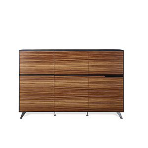 400 Collection Zebrano Storage Cabinet