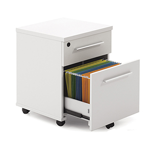 500 Collection White Mobile File Cabinet