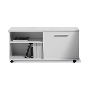 500 Collection White Moveable Cabinet