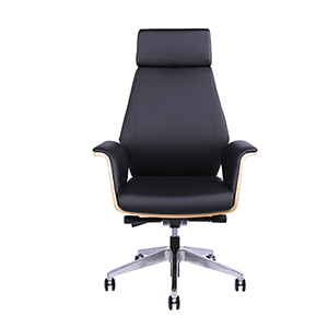 Zebrano and Black Executive Chair