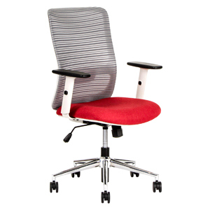 Selma Red Mesh Office Chair