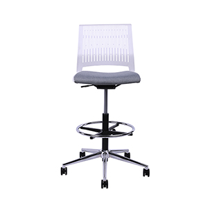 Eva White High Drafting Office Chair