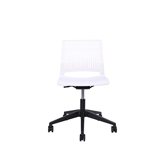 Eva White Modern Home Office Chair