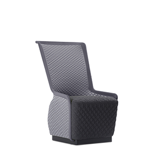 Tulip Black and Gray Mesh Lounge Chair