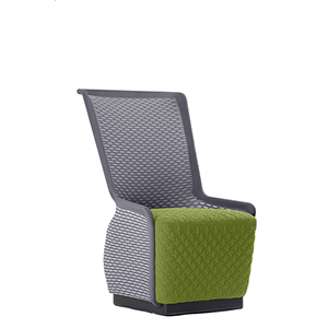 Tulip Green and Gray Mesh Lounge Chair