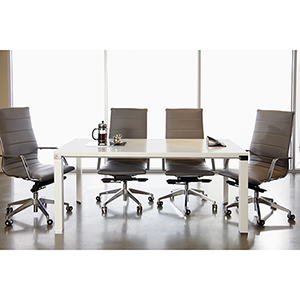 500 Collection White Meeting Table