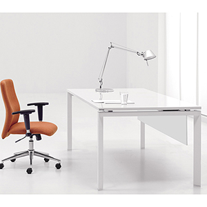 500 Collection White Mangers Desk