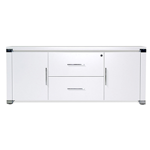 500 Collection White Storage Credenza